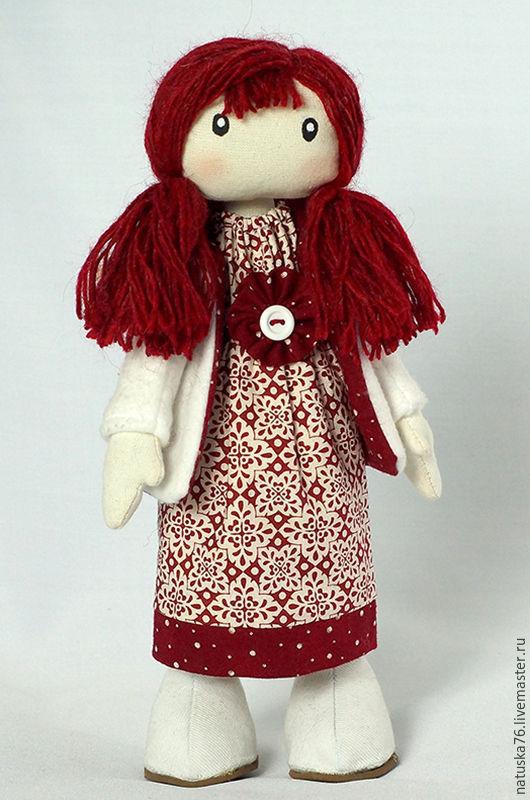 Новый год 2017 ручной работы. Ярмарка Мастеров - ручная работа. Купить Интерьерная новогодняя кукла. Девочка в белой куртке.. Handmade.