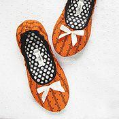 """Обувь ручной работы. Ярмарка Мастеров - ручная работа 35 Домашние тапочки """"Апельсин"""". Handmade."""