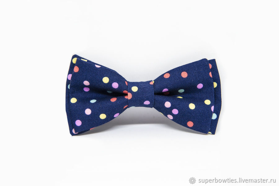 Bow tie blue with confetti pattern, Ties, Moscow,  Фото №1
