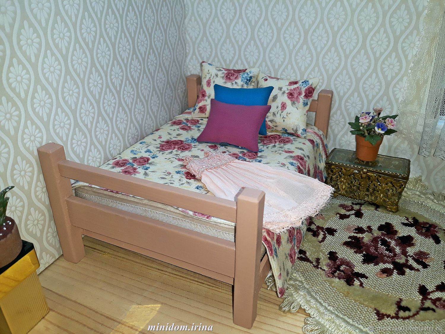 Bedroom for Dollhouse furniture for dolls, Miniature figurines, Moscow,  Фото №1