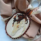 Аксессуары handmade. Livemaster - original item Chiffon scarf with pendant