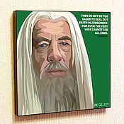 Картины и панно handmade. Livemaster - original item Painting Pop Art Gandalf Lord Of The Rings. Handmade.