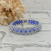 Hard bracelet handmade. Livemaster - original item The band is rigid: Blue Blueberries bracelet. Handmade.