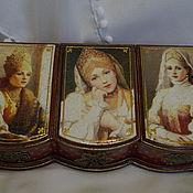 """Для дома и интерьера ручной работы. Ярмарка Мастеров - ручная работа Шкатулка """"Три девицы под окном"""". Handmade."""