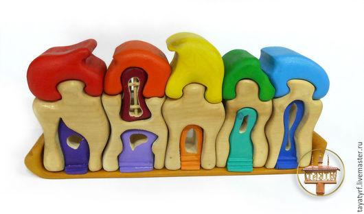 Развивающие игрушки ручной работы. Ярмарка Мастеров - ручная работа. Купить Деревня гномов. Handmade. Комбинированный, гномик, пазлы