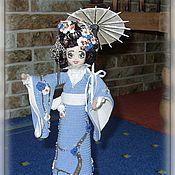 Интерьерная каркасная куколка в японском стиле - 24 см
