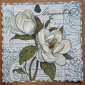 Открытки handmade. Livemaster - original item vintage postcard. magnolia.. Handmade.