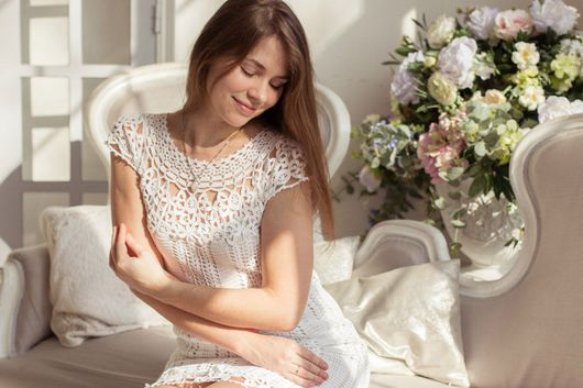 """Платья ручной работы. Ярмарка Мастеров - ручная работа. Купить Платье """"Леонора"""". Handmade. Белый, нарядное платье, женское платье"""