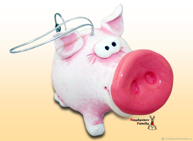 Pig Piggy. Bell, Kolokolchiki, Vladimir,  Фото №1