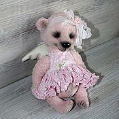 Мягкие игрушки ручной работы. Ярмарка Мастеров - ручная работа Мишка - розовый ангел.. Handmade.