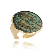 Украшения handmade. Livemaster - original item Dark green fashion ring favorite