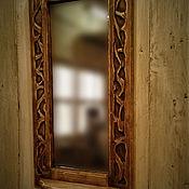 """Для дома и интерьера ручной работы. Ярмарка Мастеров - ручная работа Зеркало """"Баба Яга"""". Handmade."""