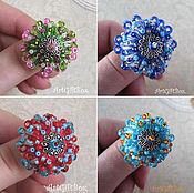 Украшения ручной работы. Ярмарка Мастеров - ручная работа кольцо из шерсти, кольцо войлок, яркое кольцоб разноцветное кольцо. Handmade.