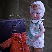 Куклы и игрушки ручной работы. Ярмарка Мастеров - ручная работа Авторская куколка из антикварных деталей Проталинка. Handmade.