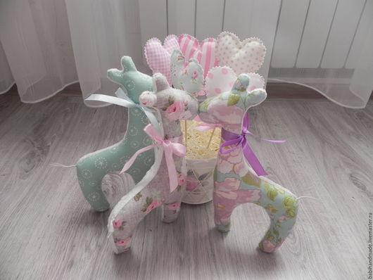 """Игрушки животные, ручной работы. Ярмарка Мастеров - ручная работа. Купить Мягкие игрушки """"Жирафики"""". Handmade. Комбинированный, для новорожденных, мальчикам"""