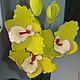 Цветы ручной работы. Орхидея. Анна Чепелева. Ярмарка Мастеров. Полимерная глина deco, керамическая ваза