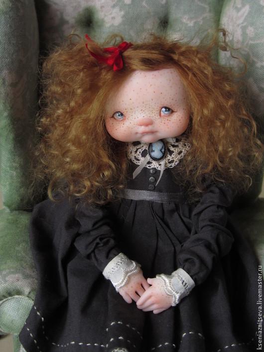"""Коллекционные куклы ручной работы. Ярмарка Мастеров - ручная работа. Купить """"Вивьен"""". Handmade. Авторская кукла, голубые глаза, мишка"""