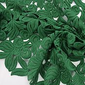 Итальянское шерстяное кружево Valentino зеленого цвета