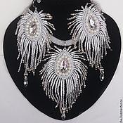 Украшения handmade. Livemaster - original item A set of necklace, earrings and bracelet