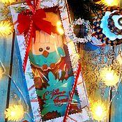 """Пряники ручной работы. Ярмарка Мастеров - ручная работа """"Пингвин и снежинка"""". Handmade."""