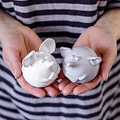 Для дома и интерьера handmade. Livemaster - original item Ceramic mouse (grey). Handmade.