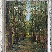 """Картины и панно ручной работы. Ярмарка Мастеров - ручная работа Картина """"Аллея старого парка"""". Handmade."""