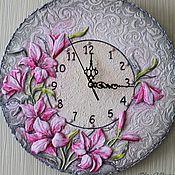 """Для дома и интерьера ручной работы. Ярмарка Мастеров - ручная работа Часы """"Лилии"""". Handmade."""