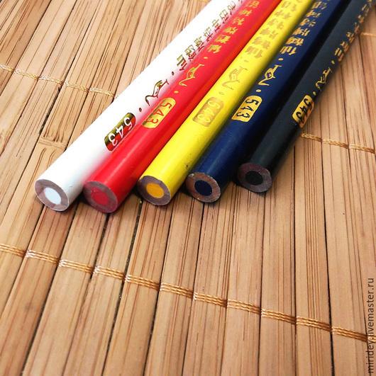 Шитье ручной работы. Ярмарка Мастеров - ручная работа. Купить Мел карандаш. Handmade. Белый, мел, карандаш, для нанесения контура