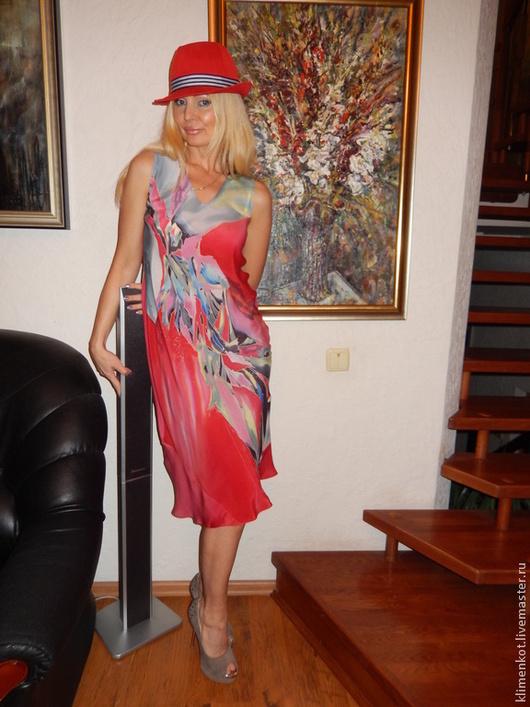 Платья ручной работы. Ярмарка Мастеров - ручная работа. Купить платье по косой Тайная страсть. Handmade. Ярко-красный, подарок
