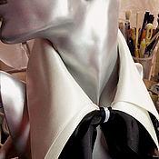 Аксессуары ручной работы. Ярмарка Мастеров - ручная работа Воротник белый  съемный,из атласа или крепдешина.. Handmade.