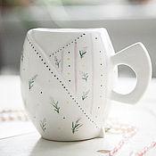 Посуда handmade. Livemaster - original item Lavender shabby.. Cup handmade ceramics. Handmade.