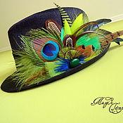 Аксессуары handmade. Livemaster - original item hat with feathers. Handmade.