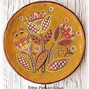 """Посуда ручной работы. Ярмарка Мастеров - ручная работа Декоративная керамическая тарелка """"Цветы"""". Handmade."""