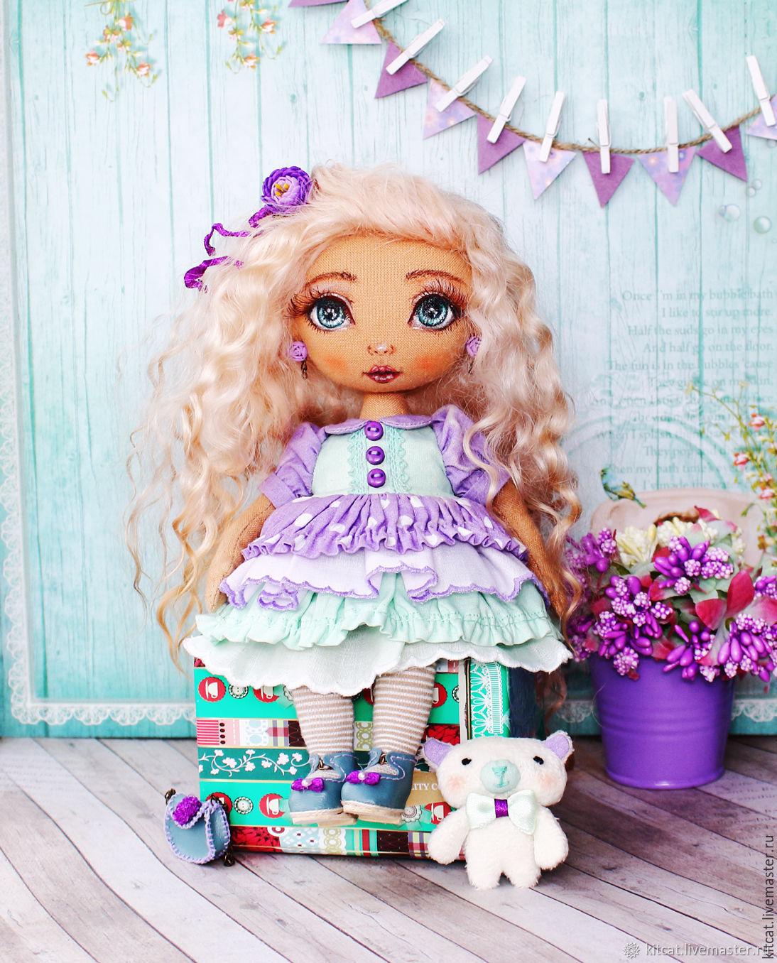 Виолетта - коллекционная авторская кукла, Куклы и пупсы, Москва,  Фото №1