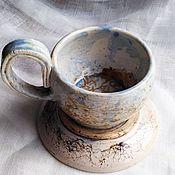 """Посуда ручной работы. Ярмарка Мастеров - ручная работа Кофейная пара """"Карта пустыни. Вечерний зной"""", керамика.. Handmade."""