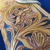 Сумки и аксессуары handmade. Livemaster - original item Women`s wallet with embossed. Handmade.