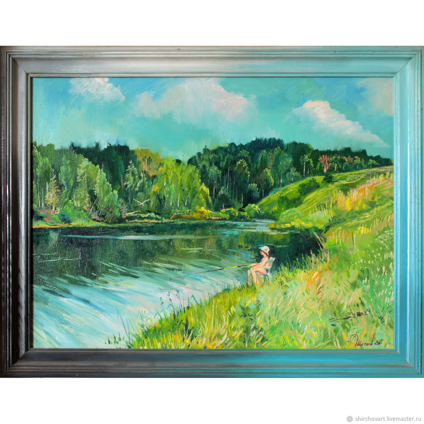 """Picture in the frame """"Fishing"""" 2004 65x50, Pictures, Morshansk,  Фото №1"""