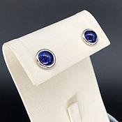 Украшения handmade. Livemaster - original item Mini earrings with lapis lazuli, 925 silver with white gold. Art.160. Handmade.