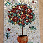 """Картины и панно ручной работы. Ярмарка Мастеров - ручная работа """"Дерево влюблённых"""", мозаичное панно. Handmade."""