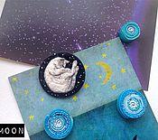 """Украшения ручной работы. Ярмарка Мастеров - ручная работа Брошь """"Космические сны"""". Handmade."""