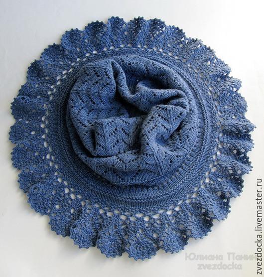 """Шали, палантины ручной работы. Ярмарка Мастеров - ручная работа. Купить шарф - снуд """"Jeans dream"""". Handmade. Синий, снуд"""