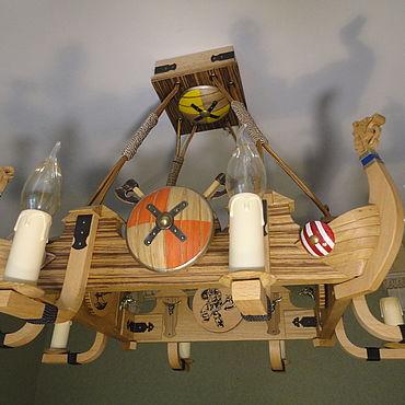 Освещение ручной работы. Ярмарка Мастеров - ручная работа Люстра Викинги. Handmade.