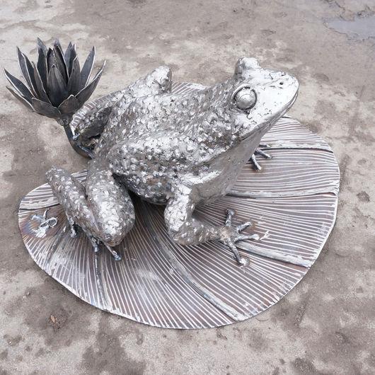 Экстерьер и дача ручной работы. Ярмарка Мастеров - ручная работа. Купить «Лягушка», скульпутра из металла. Handmade. Лягушка, фигура из металла