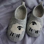 Обувь ручной работы. Ярмарка Мастеров - ручная работа Валяные тапочки Овечки. Handmade.