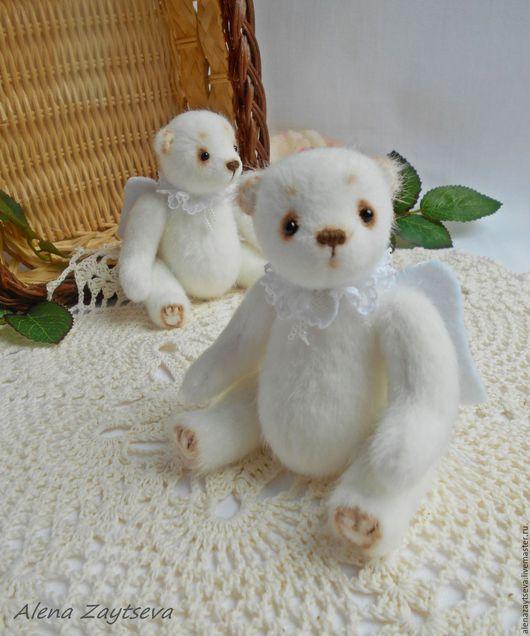 Мишки Тедди ручной работы. Ярмарка Мастеров - ручная работа. Купить Маленькие Ангелы. Handmade. Белый, Маленький мишка, белоснежный