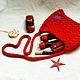 Женские сумки ручной работы. Ярмарка Мастеров - ручная работа. Купить Вязаная сумка-клатч 'Женщина с красной'. Handmade. Бежевый