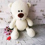 Мягкие игрушки ручной работы. Ярмарка Мастеров - ручная работа Вязаный медвежонок. Handmade.