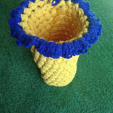 Для дома и интерьера ручной работы. Ярмарка Мастеров - ручная работа Вазы: Вязанная ваза. Handmade.