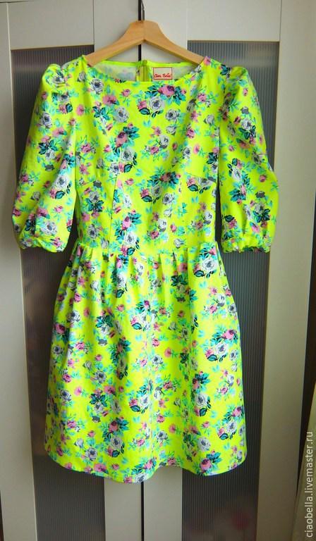 """Платья ручной работы. Ярмарка Мастеров - ручная работа. Купить Платье """"Korella"""". Handmade. Желтый, платье желтое, платье на заказ"""