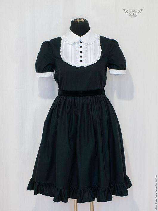 Платья ручной работы. Ярмарка Мастеров - ручная работа. Купить Чёрно-белое платье (D18/CW4). Handmade. Чёрно-белый